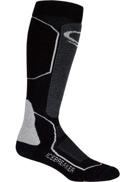 Icebreaker Ski+ Medium Over The Calf Socks Men black/oil/silver